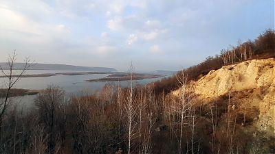 Вид со смотровой площадки Барсук на Жигулевские ворота от 1.11.2020г