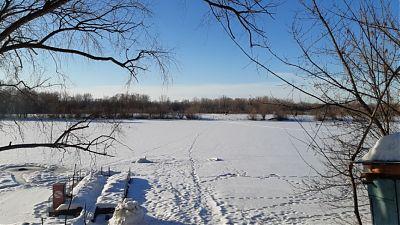Вид на озеро Синицино от 26.03.2021г